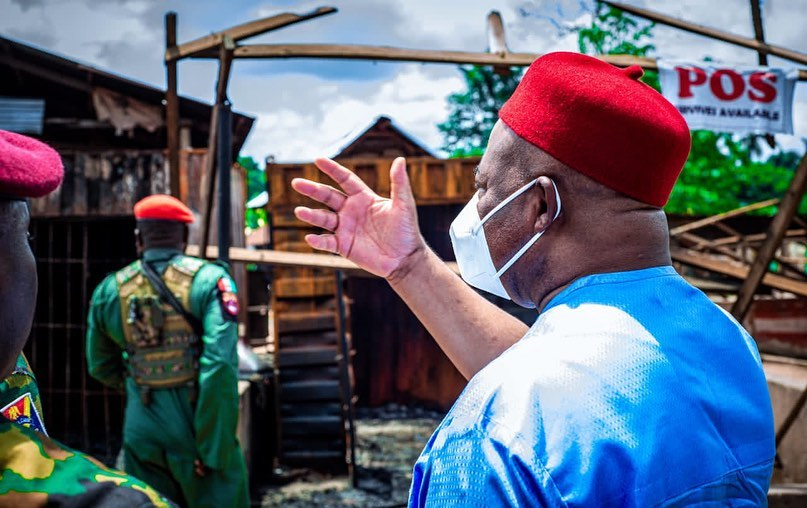 """Imo State New Media on Instagram: """"GOVERNOR UZODIMMA COMMISERATES WITH IZOMBE COMMUNITY, PROMISES TO REBUILD IZOMBE.  The proactive Governor of Imo State, His Excellency,…"""""""